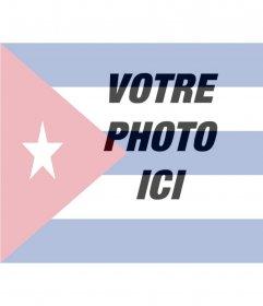 Collage de mettre le drapeau de Cuba avec votre photo