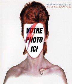 Photomontage avec la pochette du CD de David Bowie