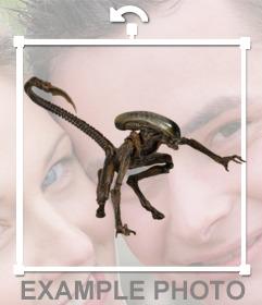 Autocollant Alien chien à mettre dans votre photo comme un photomontage