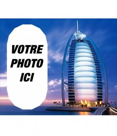 Photomontage avec un paysage de Dubaï