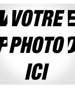 Filtre pour votre photo avec un effet noir et blanc répété
