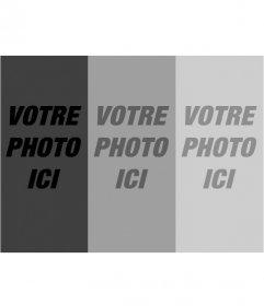 Montage des filtres photographiques. télécharger une photo et avec ce modèle vous obtenez un ensemble de trois photographies en gradient de niveaux de gris