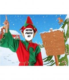 Photomontage et affiche Elf à envoyer comme carte de Noël