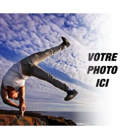 Photomontage de léquilibre entre le corps et lesprit avec votre photo