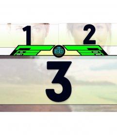 Modèle pour les photos jeu de combat pour mettre deux adversaires dans la bataille