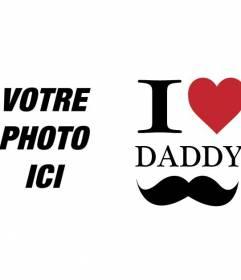 Carte postale fête des Pères