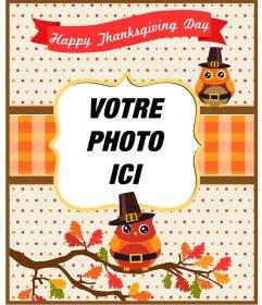 Cartes postales et cadres de Thanksgiving