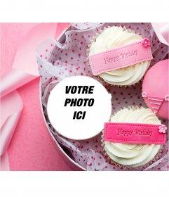 Carte postale de mettre votre photo sur un gâteau