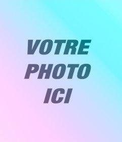 Filtres bleu et lilas à appliquer à votre photo