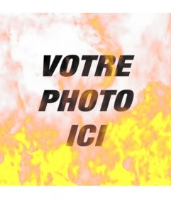 Photo Filtre pour simuler une image brûler dans les flammes de feu