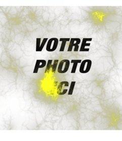 Photo étrange avec des lumières jaunes ou neurones type de rayon de mettre sur vos photos et de les éditer en ligne
