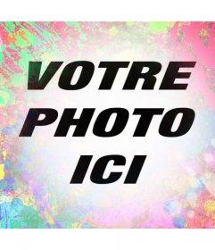 Filtre artistique pour vos photos avec des traits de peinture de plusieurs couleurs
