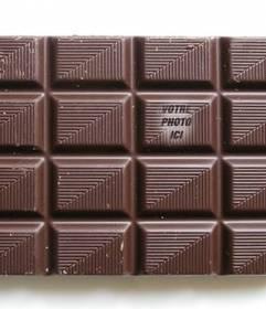 Mettez votre image sur une barre de chocolat à trouver ses amis jouent et de personnaliser avec du texte