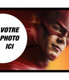 Photomontage avec lun des super-héros Flash
