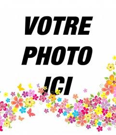 Ajouter des fleurs décoratives sur vos photos en les téléchargeant à cet effet