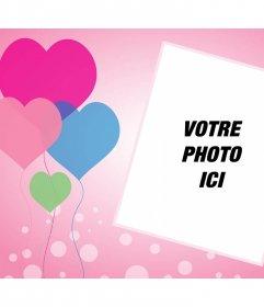 Le questionnaire avec des coeurs ballons où vous pouvez ajouter votre photo