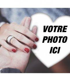 Romantic engagement effet photo pour modifier avec votre photo