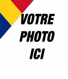 Roumanie drapeau à mettre dans un coin de vos photos pour