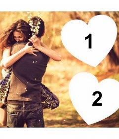 Montrez votre amour pour quelquun avec cet effet de photo pour effet deux photos