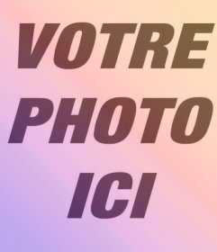 Filtre de couleurs chaudes pour donner une touche unique à vos photos