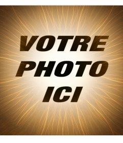 Effet photo pour modifier avec votre photo et ajouter un soleil filtre