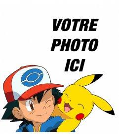 Effet avec Ash et Pikachu où vous pouvez ajouter votre photo pour obtenir un effet photo gratuit en ligne