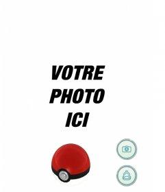 Écran de Pokemon Go jeu que vous pouvez éditer avec une image