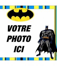 Cadre Batman gratuit pour personnaliser avec vos photos pour