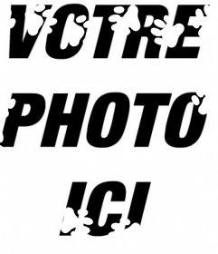 Empreintes de chien blanc pour décorer vos photos gratuitement Modifier