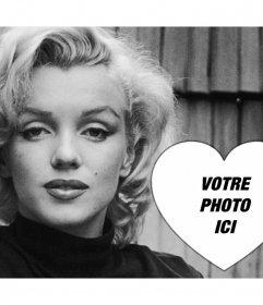 Effet photo avec la belle Marilyn Monroe pour ajouter votre photo pour
