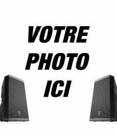 Effet photo en ligne avec deux haut-parleurs pour vos photos