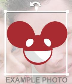 Tête Dj Deadmau5 à mettre sur de vos photos autocollant gratuit pour mettre le casque de Deadmau5 Dj sur vos images si vous aimez la musique électronique. Un effet original à partager avec vos amis