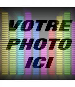 Filtre en ligne de la musique égaliseur avec colores pour votre photo