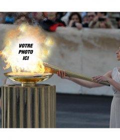 Téléchargez votre photo sur le feu des Jeux olympiques avec effet de photo en ligne cet effet photo originale pour éditer avec votre photo et lajouter dans le feu de torche olympique et partager dans vos réseaux cet amusement et leffet libre pour profiter des Jeux Olympiques