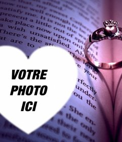 Effet photo avec une bague de fiançailles télécharger votre photo