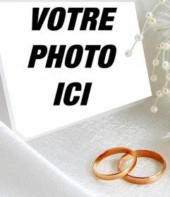 Effet photo avec deux anneaux de mariage pour télécharger une photo