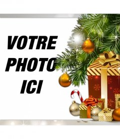 Effet photo de cadeaux de Noël pour le téléchargement de votre photo