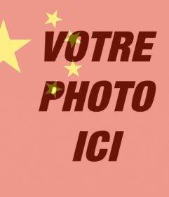 Drapeau de la Chine à mettre sur votre photo