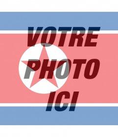 Drapeau de la Corée du Nord à ajouter comme un filtre à vos photos