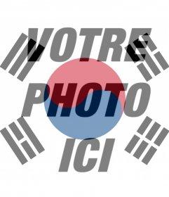 Filtre du drapeau de la Corée du Sud à votre photo