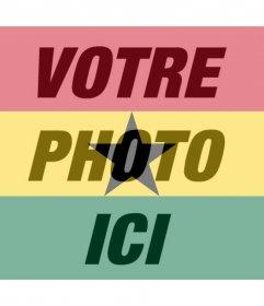 Drapeau du Ghana à appliquer comme un filtre à vos photos