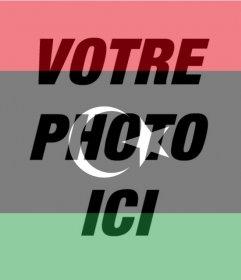 Effet photo du drapeau de la Libye pour votre photo