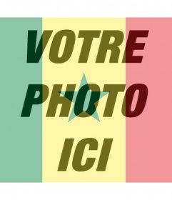 Effet photo de drapeau Sénégal pour votre photo