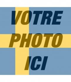 Effet photo du drapeau suédois pour votre photo