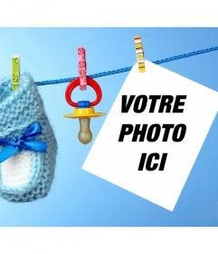 Enfants effet photo avec une tétine à télécharger une photo