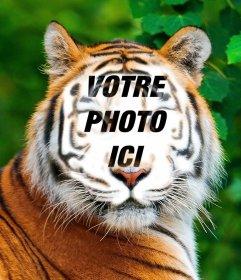 Photomontage dun tigre de télécharger votre photo sur son