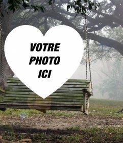 Paysage avec un swing de mettre votre photo à lintérieur dun coeur