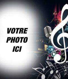 Effet photo de la musique et des notes télécharger votre photo