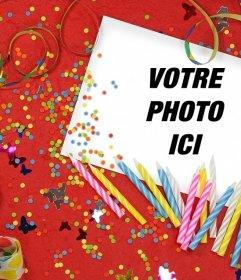 Anniversaire effet photo pour télécharger votre photo