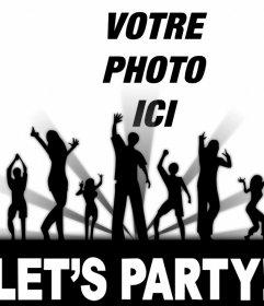 Si vous aimez faire la fête ensuite modifier cet effet photo gratuit